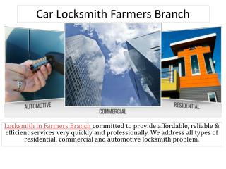 Car Locksmith Farmers Branch