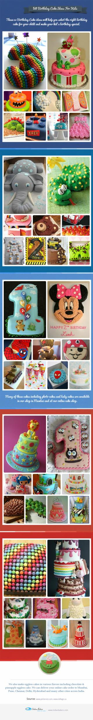 50 Birthday Cake Ideas For Kids | Baby Cakes Online