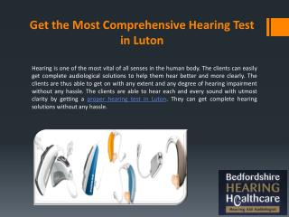 Get the Most Comprehensive Hearing Test in Luton