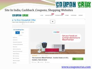 Best shopping coupon website in india couponcrux.com