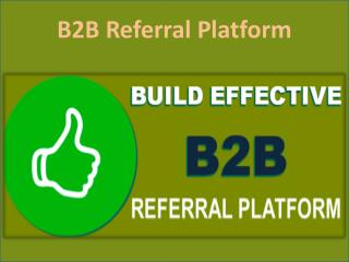 B2B Referral Platform