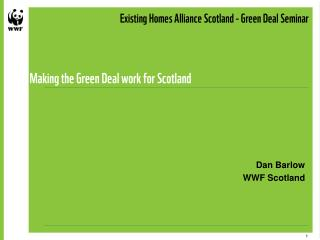 Making the Green Deal work for Scotland