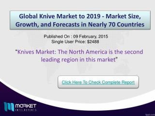 Global Knives Market: kitchen knives are the highest demanded knife type compared to others