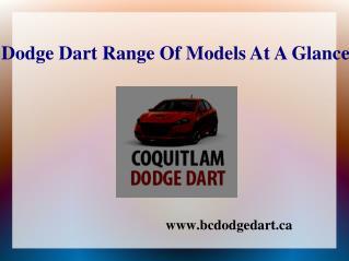 Dodge Dart Range Of Models At A Glance