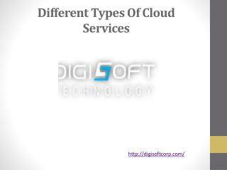 Different Types Of Cloud Services