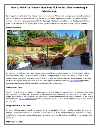 How to Make Your Garden More Beautiful and Less Time Consuming in Maintenance