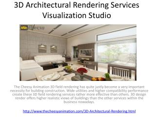 3D Architectural Rendering Services Visualization Studio