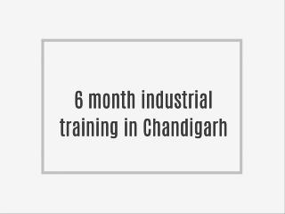 6 month Training in Chandigarh