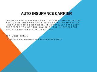 Auto insurance carrier