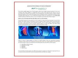 Best Cervical, Lumbar Spine Surgery treatment Hospitals in India at very low prices