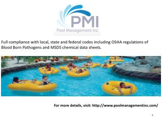 Aquatic facility water parks
