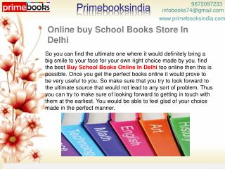 Online buy School Books Store In Delhi