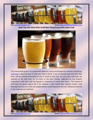 Why Craft Beer Hong Kong is top selling bear brand?