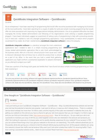 QuickBooks Integration Software