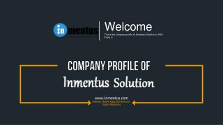 Inmentus Solution - Company Profile 2016