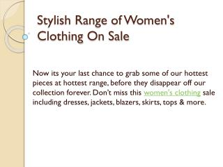 Stylish Range of Women's Clothing‎ On Sale