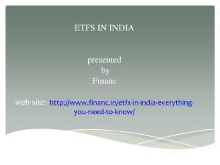 Etfs in india