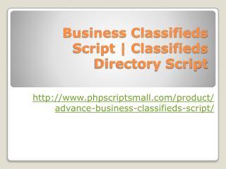 Business Classifieds Script | Classifieds Directory Script