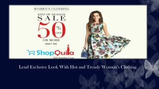 Complete Range of Women's Clothing