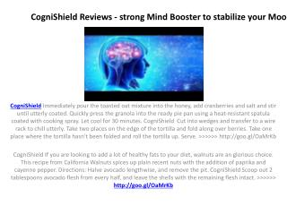 CogniShield Reviews - Increase the overall energy level of Bady