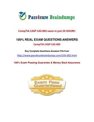 Pass4sure CAS-002 Exam Questions