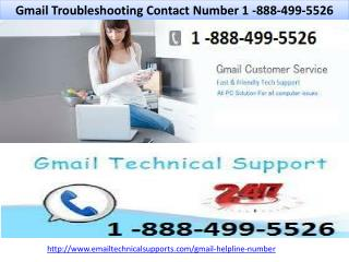 Gmail Troubleshooting Contact Number 1-888-499-5526