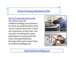 drain cleaning mechanicsville