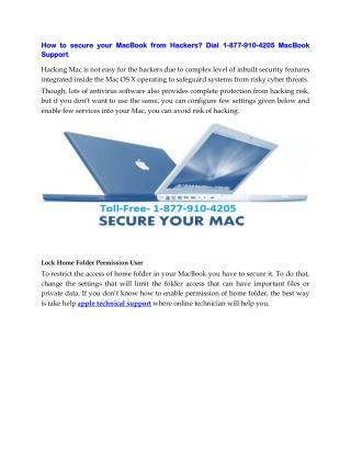 How to Protect Your Apple Devices from Getting Hacked Right Now? Call (877) 910-4205