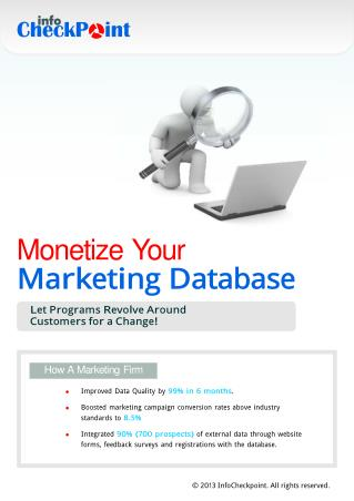 Guide for Monetizing Your Marketing Database | Info CheckPoint