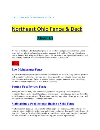 The  Northeast Ohio Fence & Deck