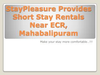 Budget Serviced Apartment in Chennai