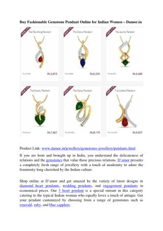 Pendant Designs for Indian Women - Damor.in