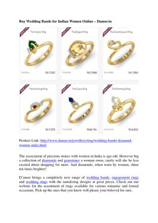 Wedding Bands for Indian Women Online - Damor.in