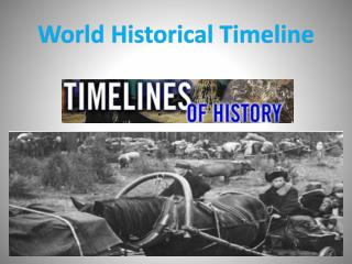 World Historical Timeline