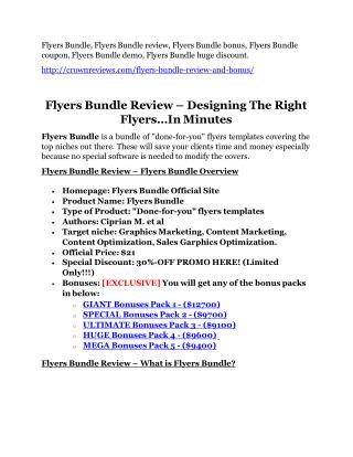 Flyers Bundle Review-$32,400 bonus & discount
