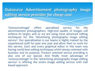 Outsource Advertisement photography image editing service provider for cheap cost