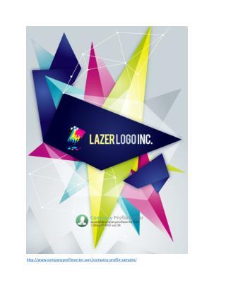 Lazer Logo Company Profile Example