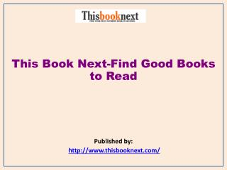 Find Good Books to Read