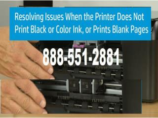Fix printer if printing blank pages