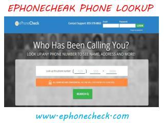 Ephonecheck Phone Lookup