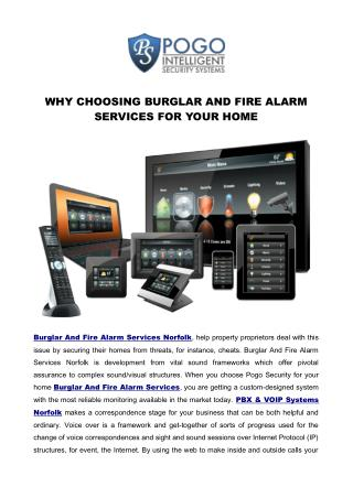 WHY CHOOSING BURGLAR AND FIRE ALARM SERVICES FOR YOUR HOME