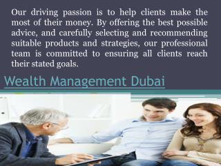 Wealth Management Dubai