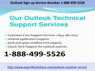 Outlook Sign up Service Number 1-888-499-5526