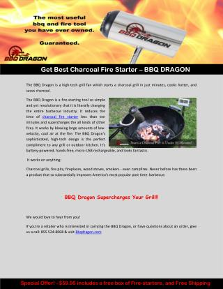Get Best Charcoal Fire Starter – BBQ DRAGON