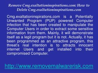 Remove Cmg.exaltationinspirations.com permanently from Windows PC