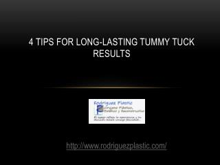 4 Tips for Long-Lasting Tummy Tuck Results