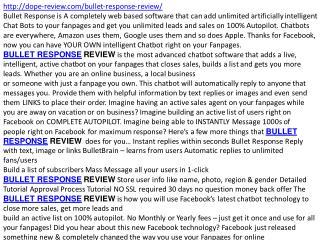 BULLET RESPONSE REVIEW