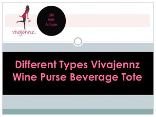 Different Types Vivajennz Wine Purse Beverage Tote