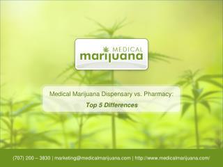 Medical Marijuana Dispensary vs. Pharmacy: Top 5 Differences