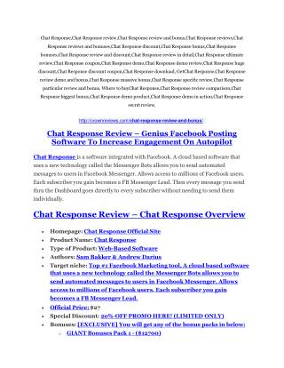 Chat Response review-SECRETS of Chat Response and $16800 BONUS